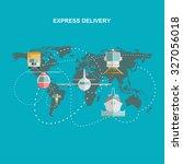production  transportation ... | Shutterstock .eps vector #327056018