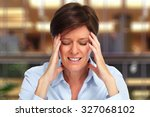 tired business woman with...   Shutterstock . vector #327068102