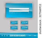 set of member login template... | Shutterstock .eps vector #327068912