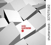 abstract vector white 3d blocks ... | Shutterstock .eps vector #327075182