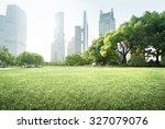 park in lujiazui financial... | Shutterstock . vector #327079076