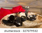 old silverware on the wooden... | Shutterstock . vector #327079532