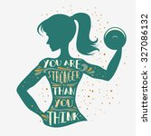 fitness typographic poster. you ... | Shutterstock .eps vector #327086132