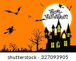 happy halloween   Shutterstock .eps vector #327093905