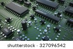 electronic circuit chip on pc...   Shutterstock . vector #327096542