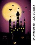 halloween background. | Shutterstock .eps vector #327105065