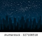 vector background. starry night ... | Shutterstock .eps vector #327108518