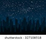 vector background. starry night ... | Shutterstock .eps vector #327108518