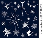 hand drawn stars vector... | Shutterstock .eps vector #327110792