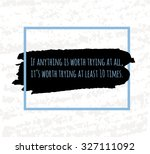 typographic poster hand drawing ... | Shutterstock .eps vector #327111092