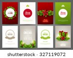 christmas backgrounds set | Shutterstock .eps vector #327119072