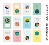 collection of artistic cards... | Shutterstock .eps vector #327121136