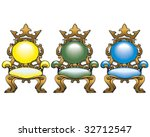 set of retro styled chairs... | Shutterstock .eps vector #32712547