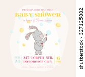 baby shower or arrival card.... | Shutterstock .eps vector #327125882