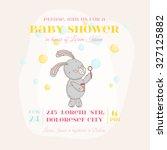 baby shower or arrival card.... | Shutterstock .eps vector #327125882