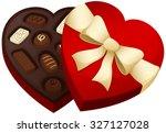 vector illustration of a heart... | Shutterstock .eps vector #327127028