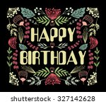 words happy birthday in cute... | Shutterstock .eps vector #327142628