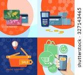 internet shopping credit cards  ... | Shutterstock .eps vector #327143465