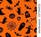 seamless halloween background | Shutterstock .eps vector #327146522