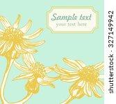 vector banner with flowers.... | Shutterstock .eps vector #327149942