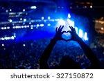 heart shaped hands at concert ... | Shutterstock . vector #327150872