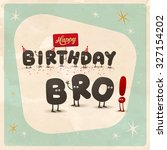 vintage style funny birthday... | Shutterstock .eps vector #327154202