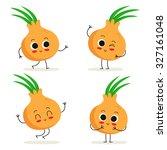 onion. cute vegetable vector...
