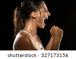 victorious scream shout... | Shutterstock . vector #327173156