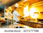 chef in restaurant kitchen at... | Shutterstock . vector #327177788