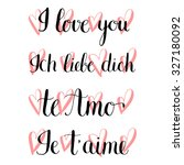 "set of 4 ""i love you""... 