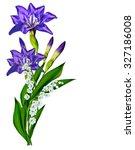 blue iris flower isolated on... | Shutterstock . vector #327186008