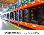 blurred image of goods shelf in ... | Shutterstock . vector #327186542