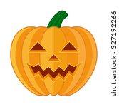 pumpkin face flat vector... | Shutterstock .eps vector #327192266