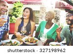 friend friendship dining... | Shutterstock . vector #327198962