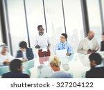 business people meeting... | Shutterstock . vector #327204122