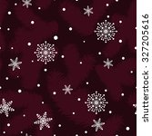 seamless christmas pattern with ... | Shutterstock .eps vector #327205616