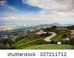 a mountain scenery of phu tub... | Shutterstock . vector #327211712