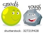 opposite adjectives smooth and... | Shutterstock .eps vector #327219428