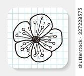 flower doodle | Shutterstock . vector #327228575