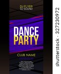 vertical music party flyer with ... | Shutterstock .eps vector #327230972