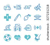 emergency icon set. included... | Shutterstock .eps vector #327231218