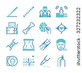 surgery icons set | Shutterstock .eps vector #327232322