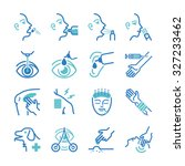 cure icon set. included the... | Shutterstock .eps vector #327233462