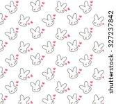 bunny pattern | Shutterstock .eps vector #327237842