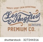 vintage city tee graphic design ... | Shutterstock .eps vector #327244316