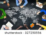 cooperation business coworker... | Shutterstock . vector #327250556