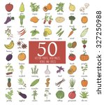 vegetables collection. healthy...   Shutterstock .eps vector #327250988