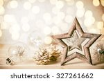 christmas background with... | Shutterstock . vector #327261662