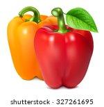 bell peppers. vector... | Shutterstock .eps vector #327261695