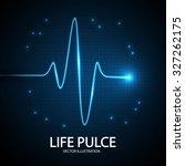 heart pulse background. vector... | Shutterstock .eps vector #327262175